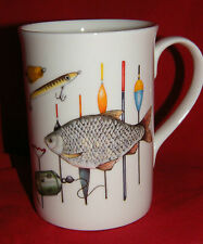 BN Fine Bone China Personalised Boxed Fishing Mug, Fishing Themed Mug
