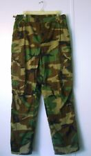 Woodland Camo Cargo Button-Fly Pants Military Uniform Fatigues Small & Med Long