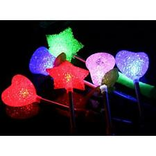3/1 Pcs LED Flashing light up stick Colors Glow Rose Wand Party Concert Favor