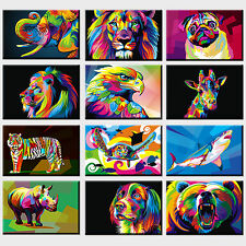 ANIMALS POP ART COLLECTION CANVAS PRINT PICTURE WALL ART VARIETY OF DESIGNS