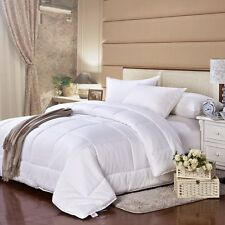 Luxurious White Goose Down Quilt Alternative Comforter King Queen Twin Size