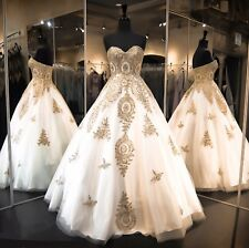 2016 Custom Made Luxurious Evening Prom Party Dress Bridesmaid Dresses Ball Gown