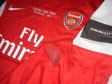 Arsenal NIKE 2010-11 Carling Cup Final Home Short-sleeve Player-issue Shirt