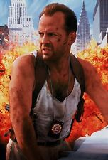 Die Hard With a Vengeance (1995) Movie Silk Fabric Poster BRUCE WILLIS