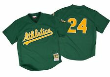 Mitchell & Ness 'Rickey Henderson - MLB Oakland Athletics' 1998 Mesh BP Jersey