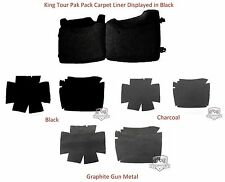 King Tour Pak Pack Carpet Liner For Harley Davidson Black Charcoal or Gun Metal