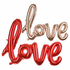 Hot Party Valentines Wedding I Love You Letter Lips Heart Air Foil Balloon Decor