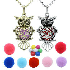 Owl Heart Locket Essential Oil Diffuser Chime Ball Angel Caller Pendant Necklace