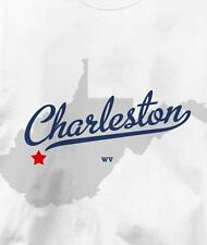 Charleston, West Virginia WV MAP Souvenir T Shirt All Sizes & Colors