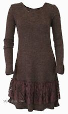 NWT  Pretty Angel Clothing Margaret Tunic Shirt Dress In Coffee 10858