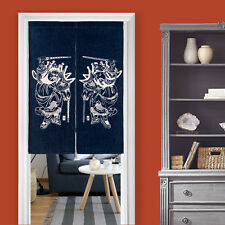 Cotton Linen Chinese Ethnic Doorway Drapes Noren Sliding Curtain Room Tapestry