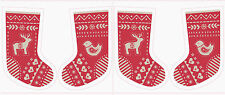 Lewis & Irene When I met Santa's reindeer fabric panel 3 colours Xmas stockings