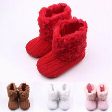 New Baby Crochet/Knit Fleece Boots Toddler Girl Wool Snow Crib Shoes Booties BE