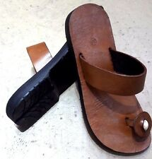 NEW Summer Hippie Mens Sandals Clip Toe-Post Flats Genuine Leather Chic Footwear