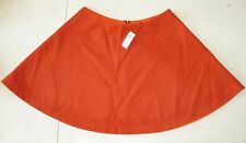 NWT KATE SPADE Saturday Circle Mini Wool Felt Skirt Flame Orange 4CMU0321 Sz 6