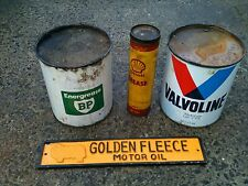 RARE ESTATE FIND GOLDEN FLEECE MOTOR OIL CAST IRON PETROL BOWSER SIGN