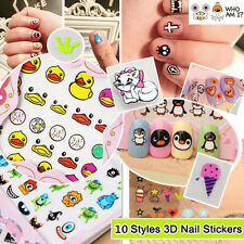 Wholesale 3D Mixed Design Decals Stickers Nail Art Manicure Tips DIY Decora Nice