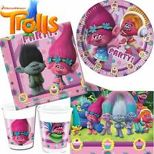 Dreamworks Trolls Birthday Party Tableware Childrens Partyware Plates Napkins