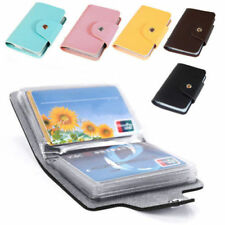 NEW Slim Pu Leather Pocket Business ID Credit Card Wallet Holder 24 Cards 8o