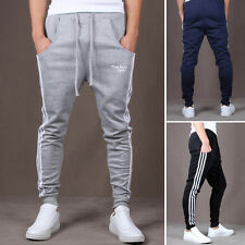 New Mens Stretch Joggers Pants Trousers Slim Fit Jogging Tracksuit Sports Gym