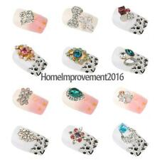 10Pcs 3D Nail Art Tips Decorations Alloy Rhinestones Jewelry Manicure