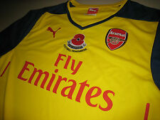 Arsenal 2014-15 PUMA EPL Remembrance (vs Swansea) Long-sleeve Replica Shirt