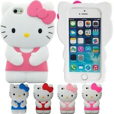 Hello Kitty Silicone Case Cover Skin for iPhone 5, iPhone 5S and iPhone SE