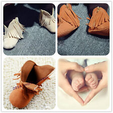 New arrived Newborn Infant Baby Girls Boots Cotton cozy Tassel Shoes 0-18M QSYT