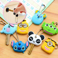 New Fashion Korea Cute Soft Key Top Head Cover Chain Cap Keyring Accessories