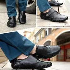 Men Genuine Leather Moccasins Slip On Loafers Flats Outdoor Driving Shoes B