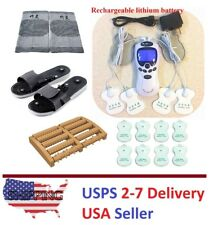 TENS Unit Tens Massager Digital Therapy Acupuncture Pads Machine TWO outputs H