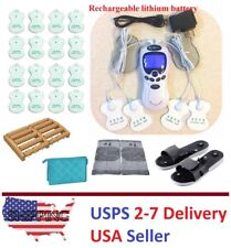 TENS Unit Tens Massager Digital Therapy Acupuncture Pads Machine TWO outputs L