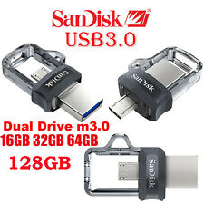 SanDisk 32GB 64GB 128GB M3.0 Ultra OTG micro USB3.0 lot Memory Stick Flash Drive