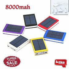8000mAh Portable Super Solar Charger Dual USB External Battery Power Bank BN