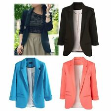 Fashion Women Candy color Slim Casual Business Blazer Suit Jacket Coat Outwear
