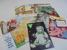 Doll Clothes and Toys Knitting Pattern Booklets/Books You Choose Patons Bestway