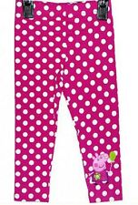 Girls Peppa Pig Kids Pink Polka Dot Leggings sizes 9m to 6Y