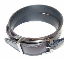 Geoffrey Beene Mens Designer Black Brown Swivel Reversible Soft Leather Belt 32