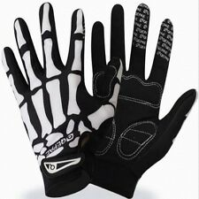Bone Skeleton Racing Riding Cycling Bicycle Bike Sports Skull Full Finger Gloves