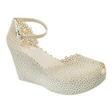 NEW Womens shoes Jodie Cream Wedges Mary Jane Shoes Jelly Shoes
