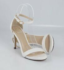 White Patent Sexy Cutie Thin Strap Heel Sandals Closed Back w Ankle Strap