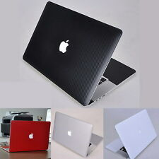 Carbon Fiber 3D Sticker Skin Cover Guard Protector fr Apple MacBook Pro 13 A1502