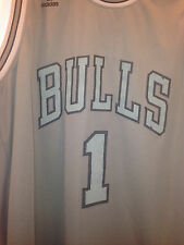 Chicago Bulls Derrick Rose #1 Jersey Swingman by Adidas - Stiched Logs