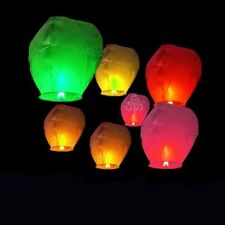 LOT Chinese Kongming Flying Lanterns Fire Light Wishing Lamp For Party Wedding