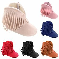 Infant Toddler Fringe Tassel Boots Baby Infant Boy Girl Soft Soled Winter Shoes