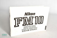 Nikon FM10 Instructions