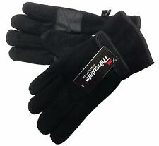 Men's Thermal Fleece Thinsulate Lined Gloves with Palm Grip