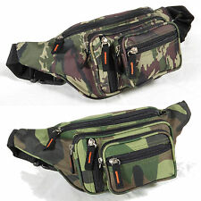 Camo Fanny Pack Water Resistant Waist Bag Camping Hunting hiking Travel Gear H