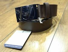 New Mens Duck and Cover Brown Solid Buckle Leather Belt Designer Jean Denim &