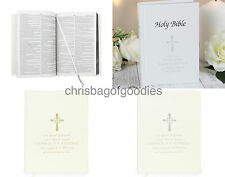PERSONALISED Holy BIBLE Christening Baptism Communion Wedding Blessing GIFT for